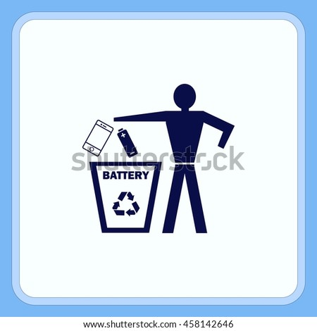 Throw away the trash icon, recycle icon