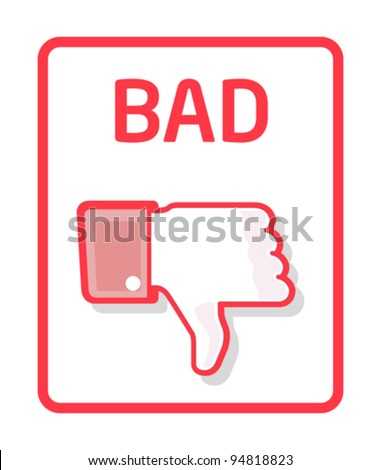 Thumb bad - stock vector