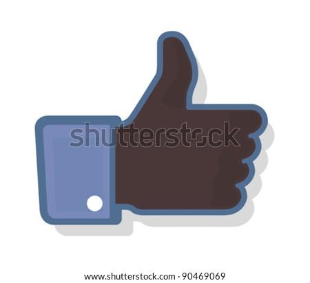 Thumb Up 2 - Black - stock vector