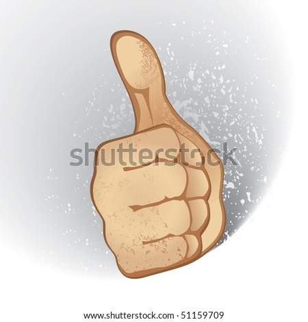 Thumb Up Gesture (vector). In the gallery also available XXL jpeg version of this image. - stock vector