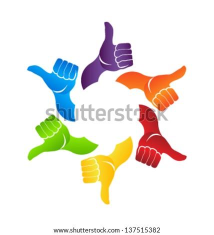 Thumb up Hands - stock vector