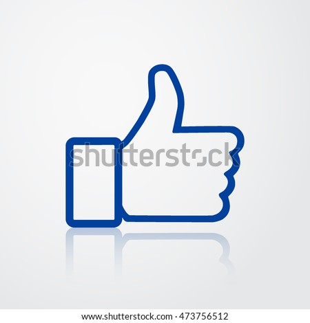 Thumb Up Icon. Like Symbol of Satisfied. Vector Illustration