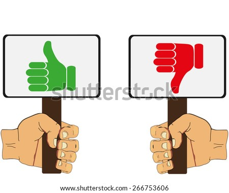 Thumb up icons vector illustration