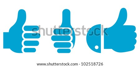Thumb Up. Set - stock vector