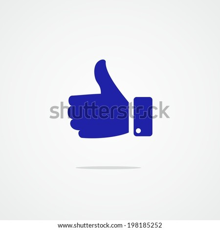 Thumb up sign. Hand finger up symbol. Vector  - stock vector