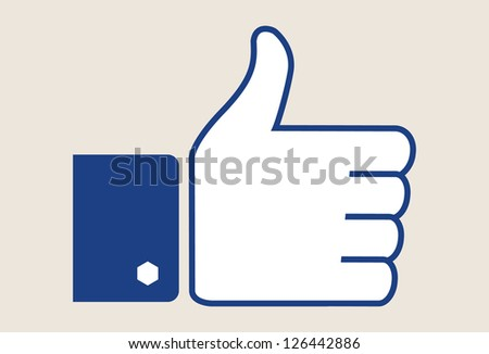 Thumb up - vector symbol - stock vector
