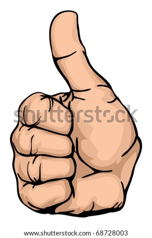 thumbs-up an illustration of a human hand giving the thumbs-up - stock vector