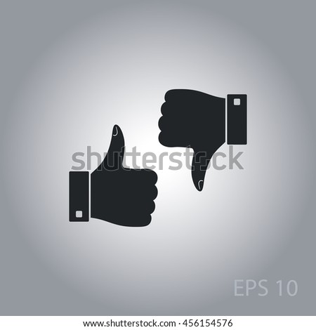 Thumbs up down vector icon