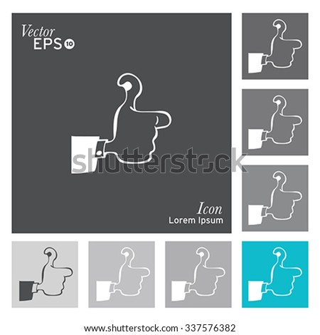 thumbs up icon - stock vector