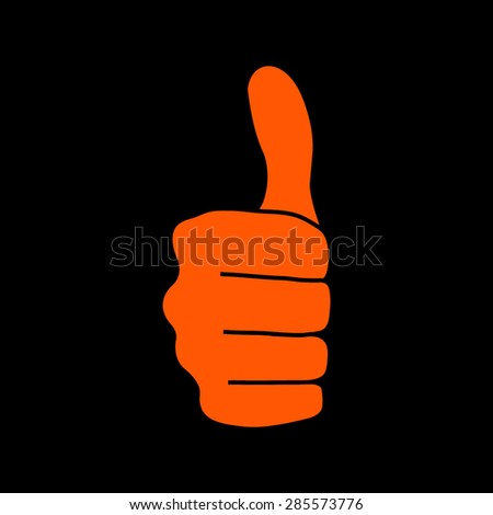 thumbs up icon on a black background