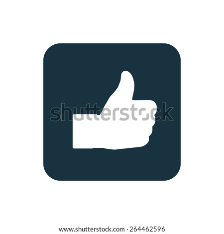 Thumbs Up icon Rounded squares button, on white background