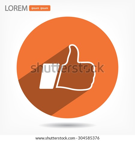 Thumbs up icon. Vector  Eps 10  - stock vector