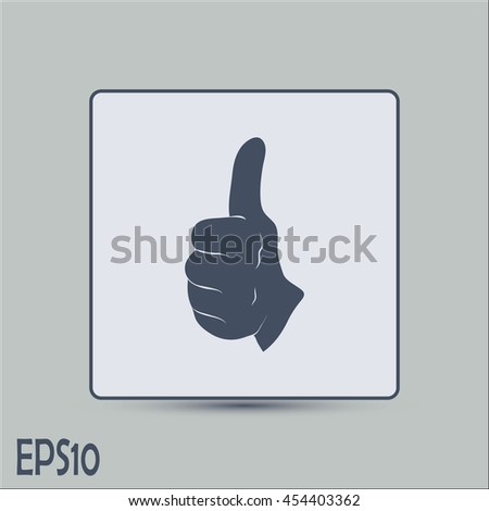 thumbs up icon , vector illustration