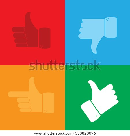 Thumbs Up icons set