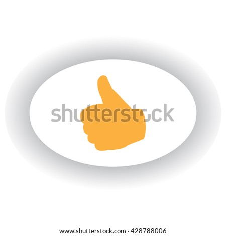 Thumbs up or down icon - stock vector