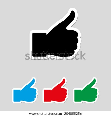 thumbs up - vector icon