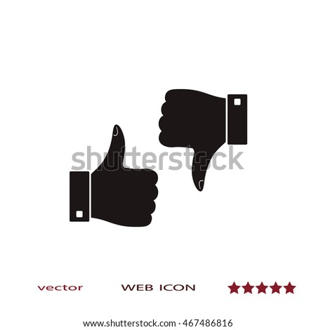 Thumps up and down, vector icon