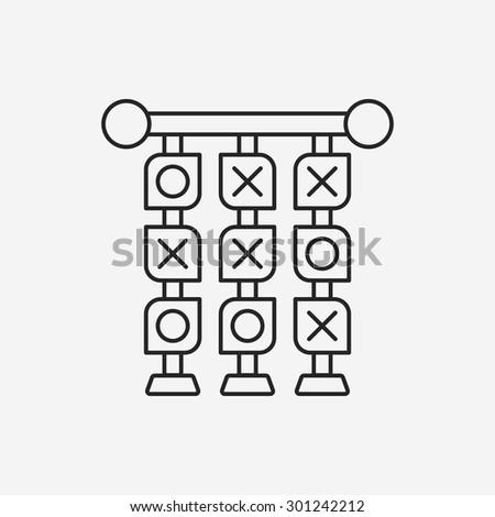 Tic Tac Toe line icon - stock vector