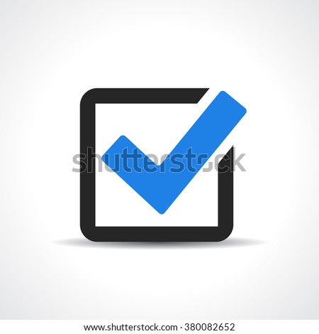 Tick approval icon - stock vector