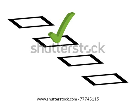 Tick box to vote - stock vector