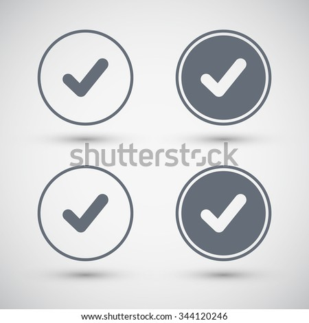 Tick icon. Confirm icon. Check mark icon. Vector illustration. - stock vector