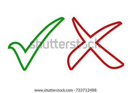 Tick Icon Set Stylish Check Mark Stockvector 733712488 - Shutterstock