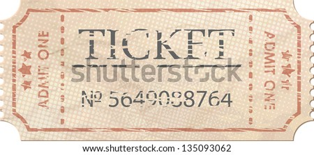 Ticket admit one vintage one. And also includes EPS 8 vector - stock vector