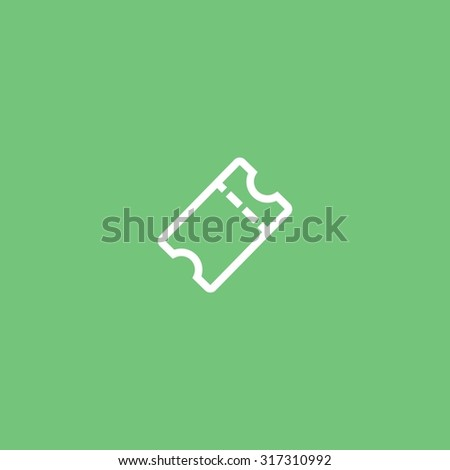 ticket icon - stock vector