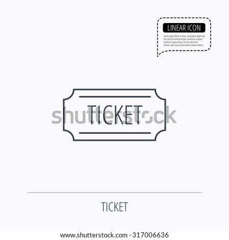 Ticket Outline Images RoyaltyFree Images Vectors – Ticket Outline