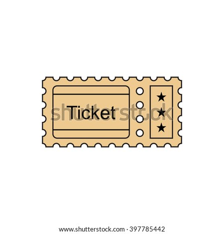 Ticket Icon Outline Style Ticket Vector Vector 410877328 – Ticket Outline