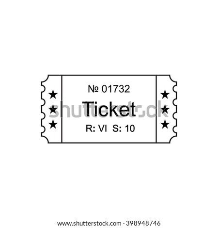 American Football Rugby Soccer Ticket Card Vector 331261007 – Ticket Outline