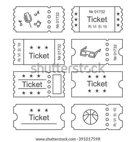 Ticket Icon Outline Style Vector Illustration Stock-Vektorgrafik ...