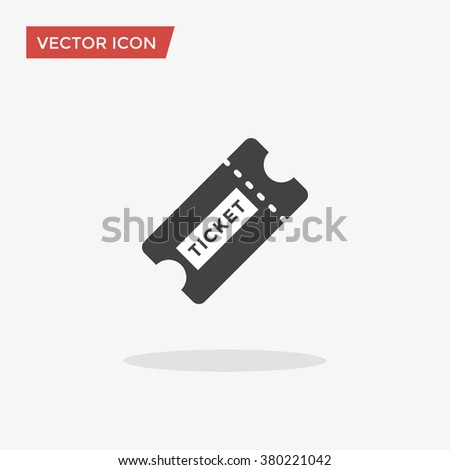 Ticket Icon in trendy flat style isolated on grey background. Vector illustration, EPS10. - stock vector
