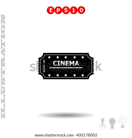 Ticket icon. Simple black vector symbol. Logo for web. Image for business. - stock vector