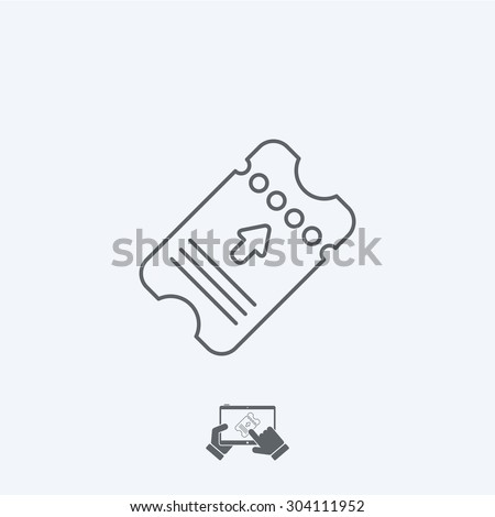 Ticket icon - Thin series - stock vector