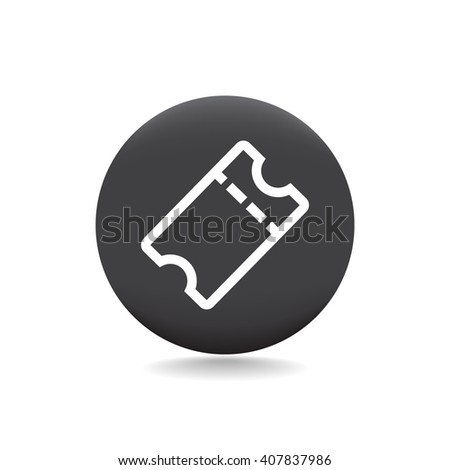 Ticket icon, Ticket icon eps10, Ticket icon vector, Ticket icon  - stock vector
