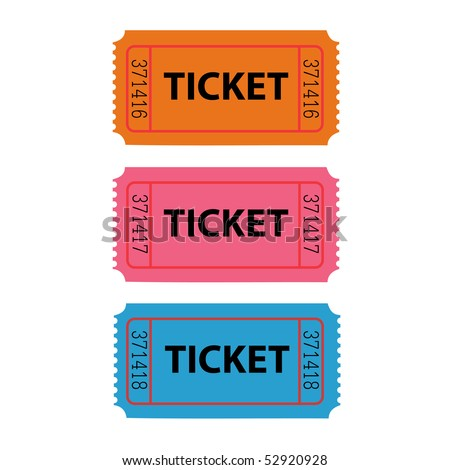 Ticket Illustration - stock vector