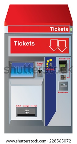 ticket machine stock images royalty free images vectors shutterstock. Black Bedroom Furniture Sets. Home Design Ideas