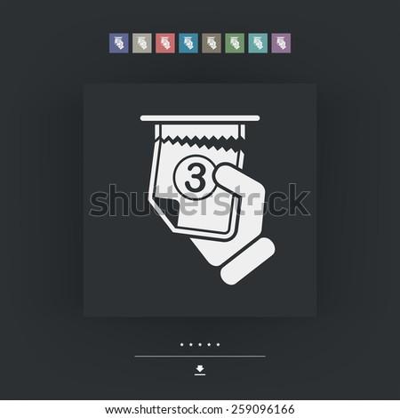 Ticket queue icon - stock vector