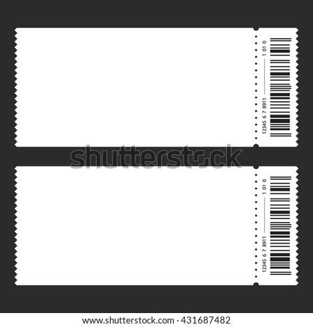 blank ticket templates free