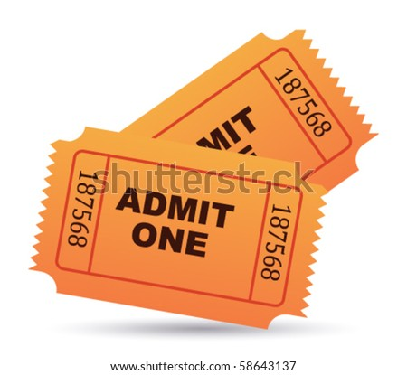 ticket vector - stock vector