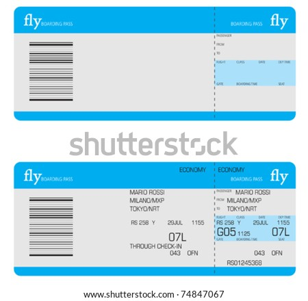 Shutterstock  Printable Fake Airline Tickets