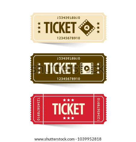 Tickets Set. Vector Cinema Ticket.