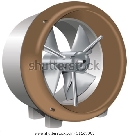 Tidal and river turbine - stock vector