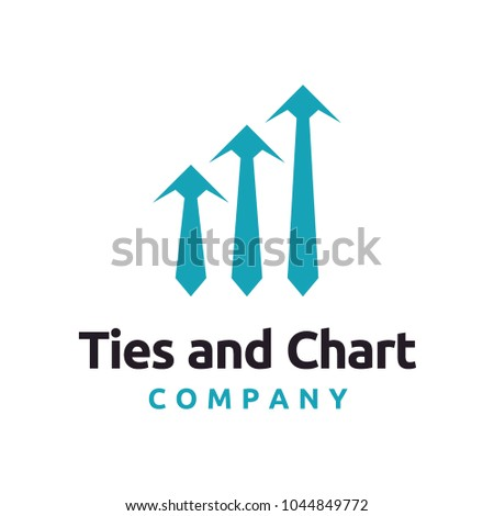 chart design inspiration. Tie And Chart Logo Design Inspiration