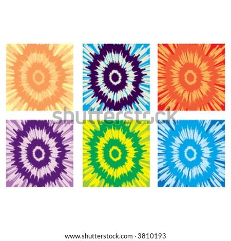 Tie-Dye Patterns - stock vector