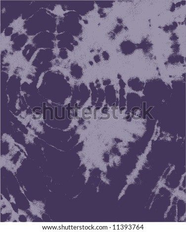 Tie dyed texture made from my hand made t-shirt. Two color. - stock vector