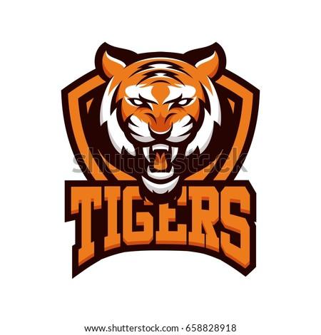 tiger animal mascot head vector illustration stock vector 658828918 rh shutterstock com tiger mascot clipart free Tiger School Mascots Clip Art