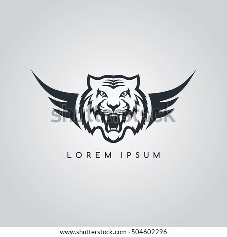 tiger aviator symbol logo logotype theme vector illustration