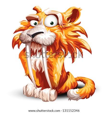 Tiger Cartoon - stock vector
